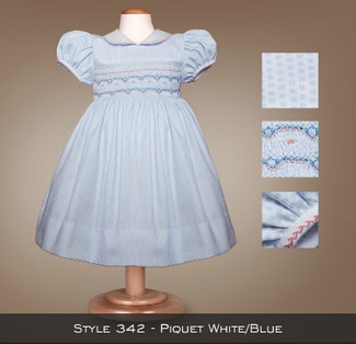 Spring Collection Piquet White/Blue 342