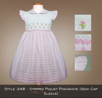Spring Collection Striped Piquet Pink/White 348
