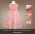 Spring Collection Cotton Orange with Dots (sleeveless) 355