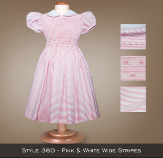 Spring Collection Pink/White Wide Stripes 360