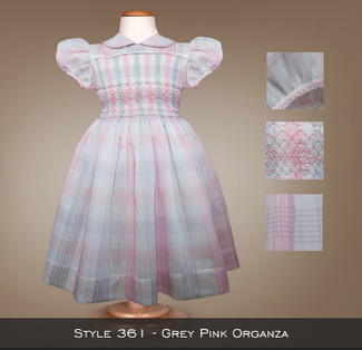 Spring Collection Grey Pink Organza 361