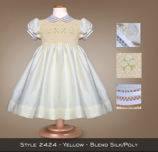 Spring Formal Yellow Blend Silk/Poly 2424