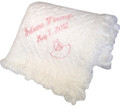 Personalized Cotton Carriage Throw Angel Motif