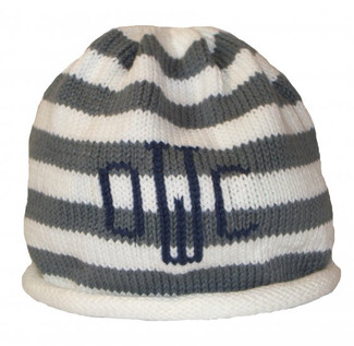 Silver Personalized Knit Hat