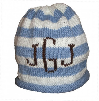 Blue Personalized Knit Hat