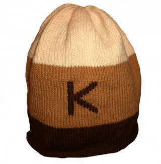 Brown Rugby Personalized Knit Hat