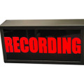 Sandies Model 340 RECORDING Warning Light - 12vdc