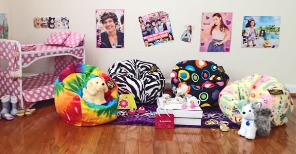 Bean Bag Chairs For Girls And American Girl Size Dolls