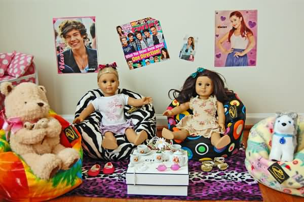 American Girl Dolls Love Ahh! Bean Bags!