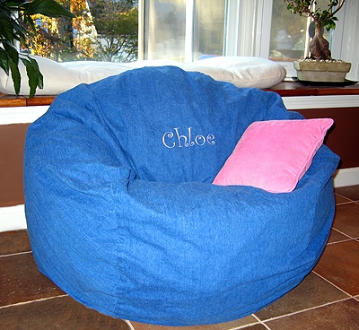 Personalized Bean Bag Chairs Names On Washable Bags For Kids