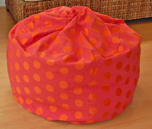 """37"""" wide Delightful Dots - Hot Pink with Orange Dots"""