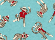 Sock Monkeys Fleece