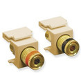 ICC MODULE, BINDING POST, GOLD PLATED, IVORY Stock# IC107PMGIV