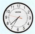 "Valcom 16"" Round Clock, Black, Surface Mount, 24V ~ Stock# V-A2416 ~ NEW"