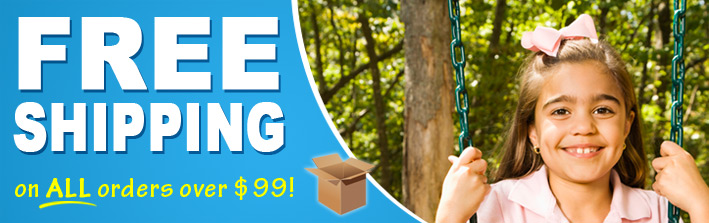 Free shipping for your swing set parts!