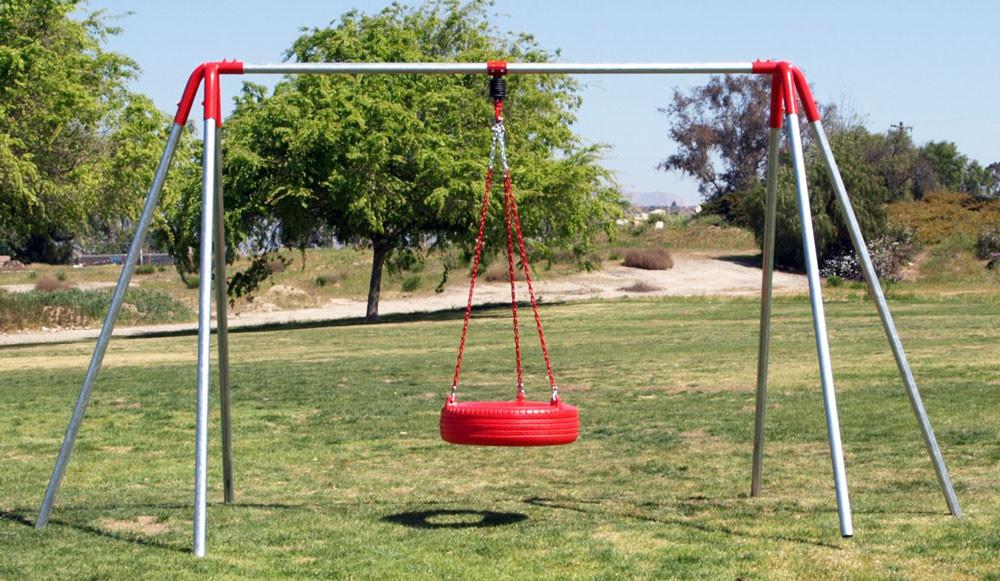 Heavy Duty Playground : Legged tire swing set swingsetmall