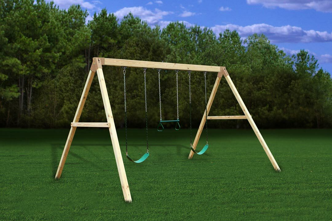 Free standing swing beam bracket for Wooden swing set plans