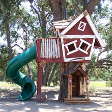 Tommys Turbo Terrace Outdoor Wood Tree Playhouse