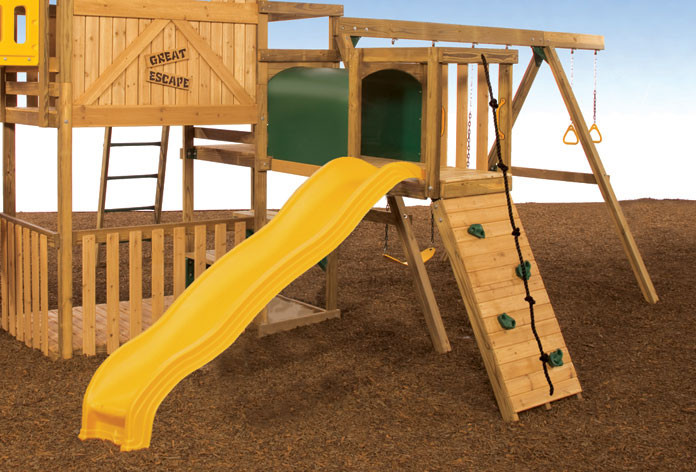 Add a slide to your Adventure Tunnel deck
