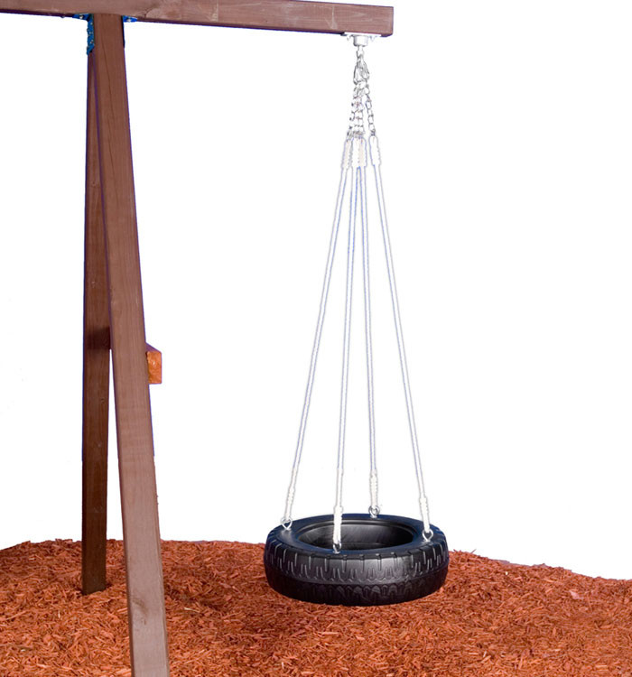 how to make a tire swing with rope