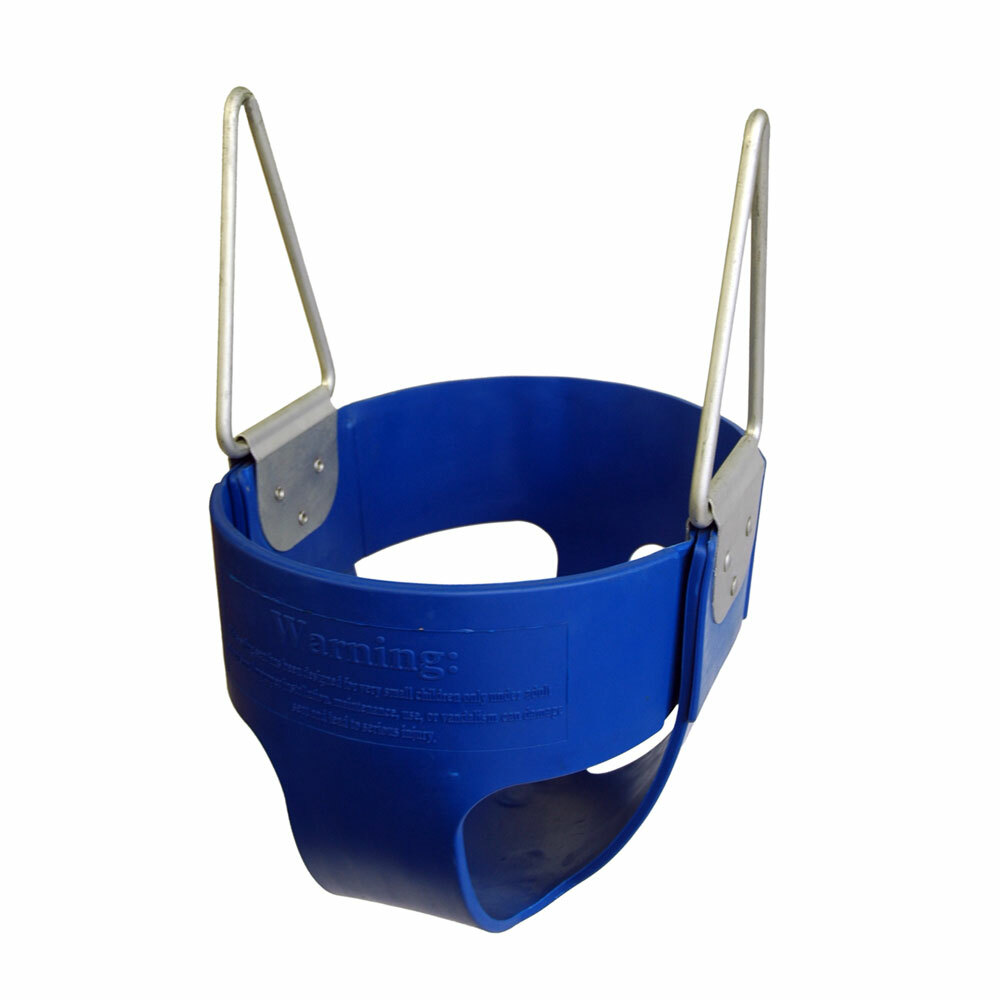 Commercial Rubber Full Bucket Swing Seat - Blue