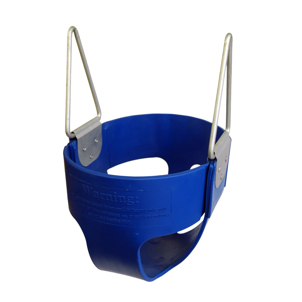 Commercial Rubber Full Bucket Swing Seat - Blue