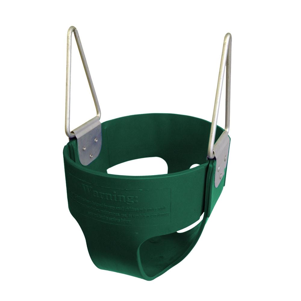 Commercial Rubber Full Bucket Swing Seat - Green