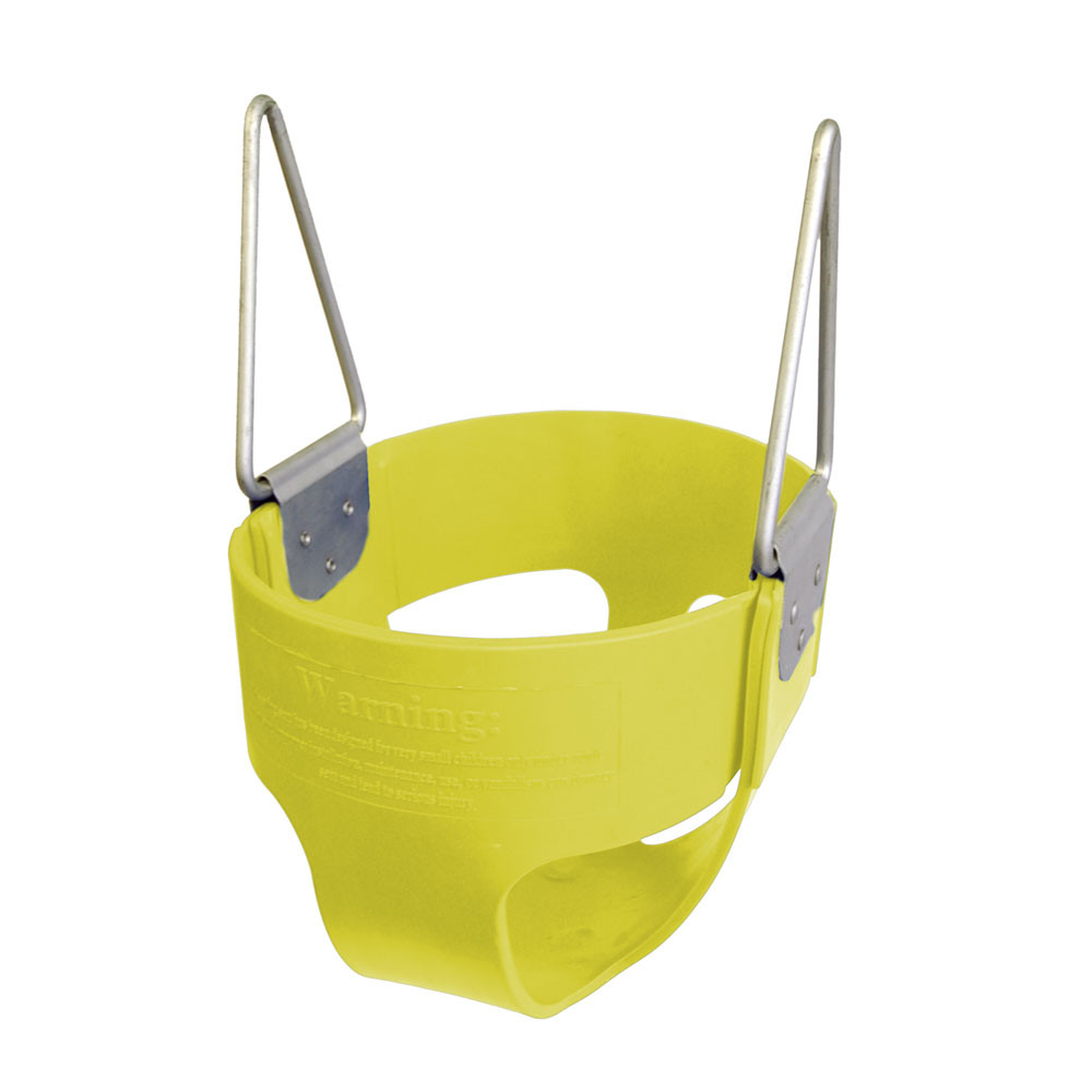Commercial Rubber Full Bucket Swing Seat - Yellow