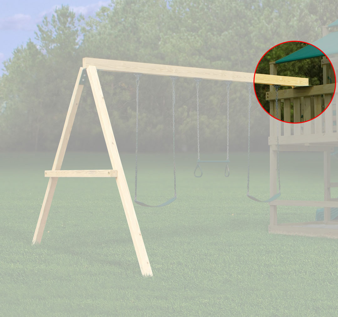 Swing beam support plate for Swing set supports
