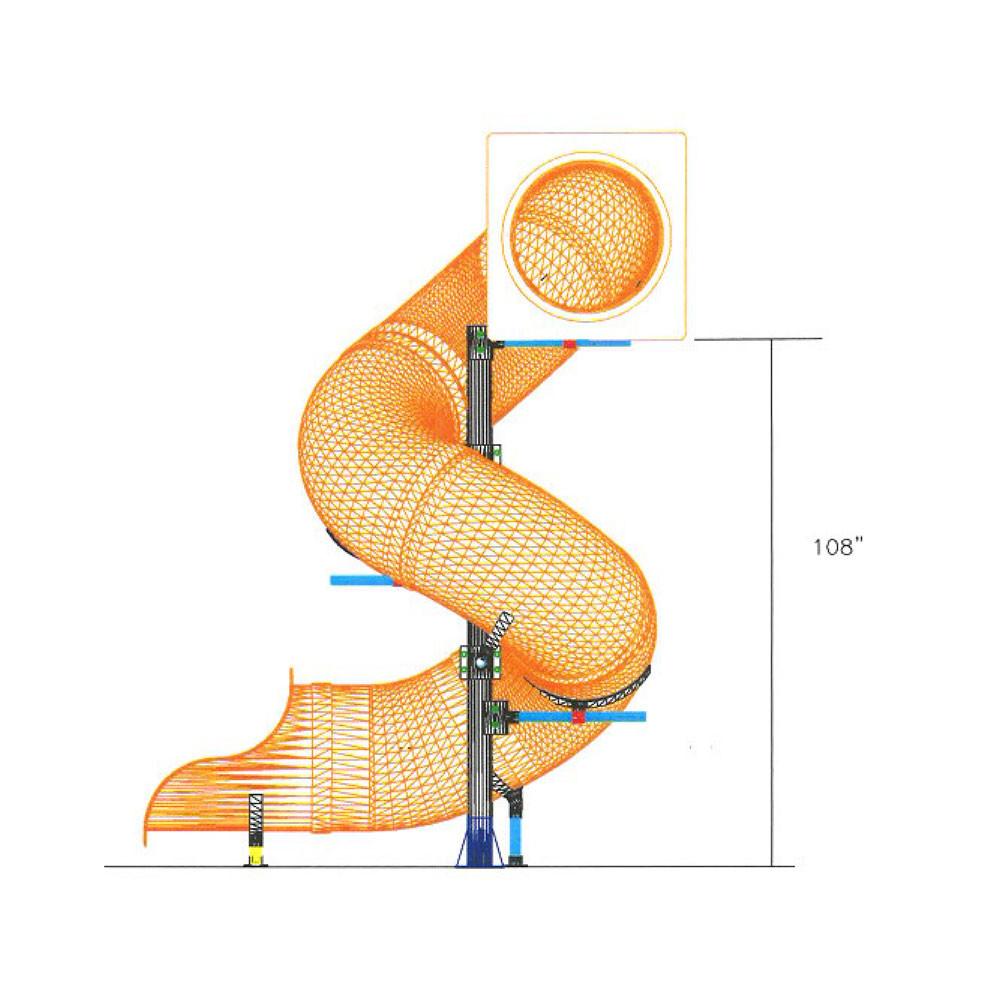 9 Spiral Tube Slide Swingsetmall Com