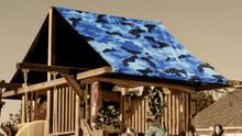 Blue Camouflage Playset Roof Tarp