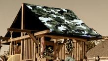 Green Camouflage Playset Roof Tarp