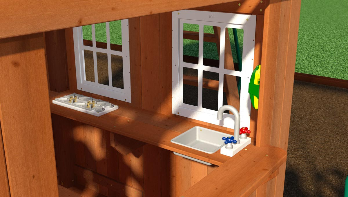 Castle Peak Swing Set - Play Kitchen