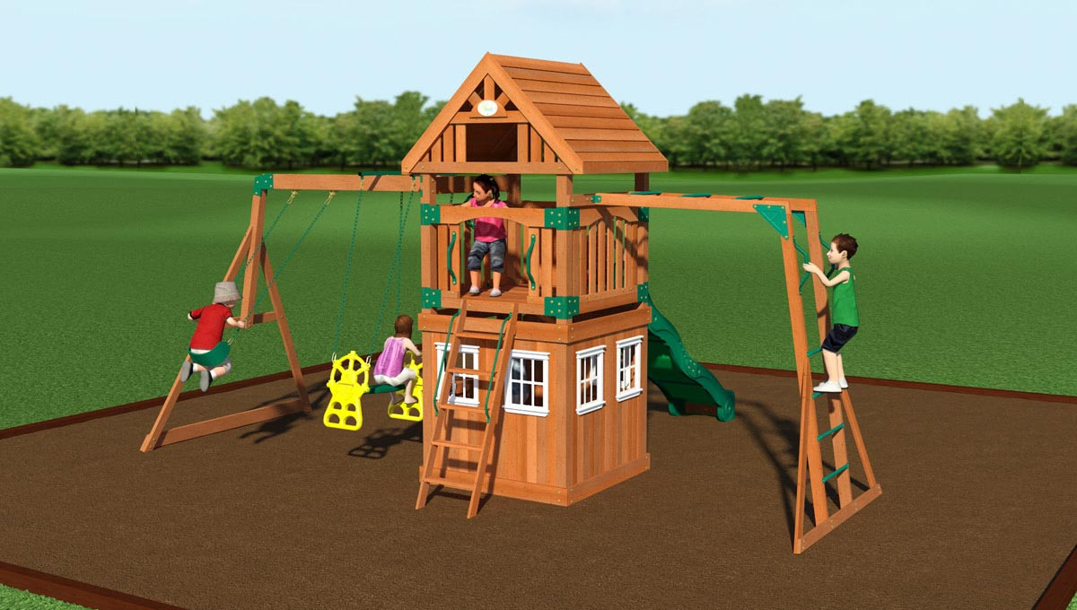 Castle Peak Swing Set