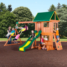 Somerset Wooden Swing Set (65012com)