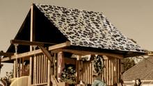 Brown Cheetah Playset Roof Tarp