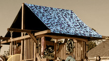 Blue Cheetah Playset Roof Tarp