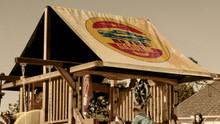 Retro Garage Playset Roof Tarp