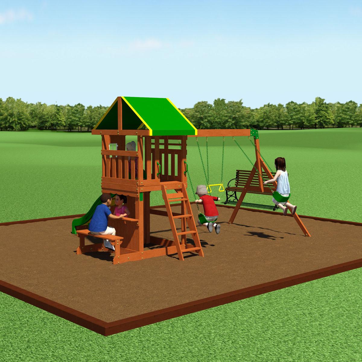 Oakmont Wooden Swing Set (65114com)