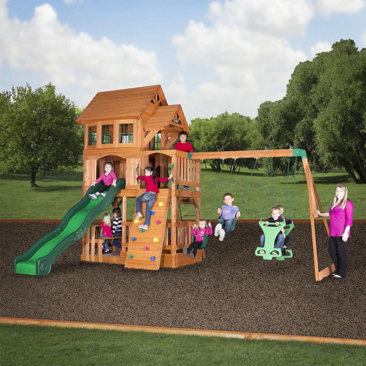 Liberty II Wooden Swing Set (44215com)
