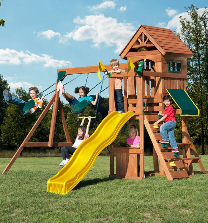 Jamboree Fort Complete Swing Set (PB-8328)