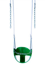 CoPoly Half Bucket Swing Seat with Rope