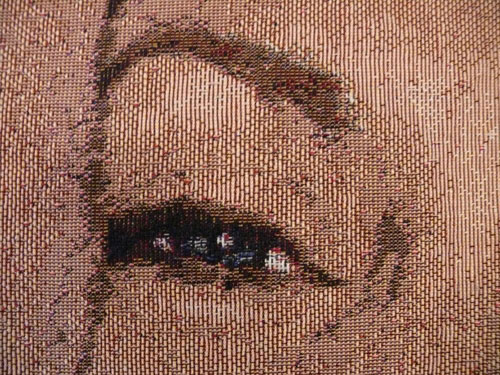 We knit your photo into your tapestry