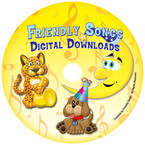 Friendly Songs Downloadable Personalized Music CD