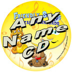 CUSTOM NAME - Friendly Songs Downloadable Personalized Music CD