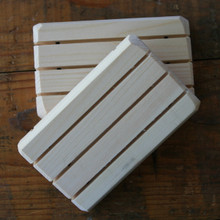 Wooden Soap Saver Dish.  Slotted design lets the water run off, keeping your soap dry, so it will last longer.