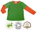 Colourful Boys Green Long Sleeve T Shirt