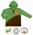 Boys Baby Hoodie Green and Brown T Shirt