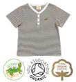 Baby Boys Short Sleeve T-shirt Grey & White Stripe