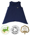 Baby Girls Navy Top with Peter Pan Collar